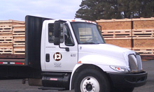 JCI Fleet, Flatbed truck with crates